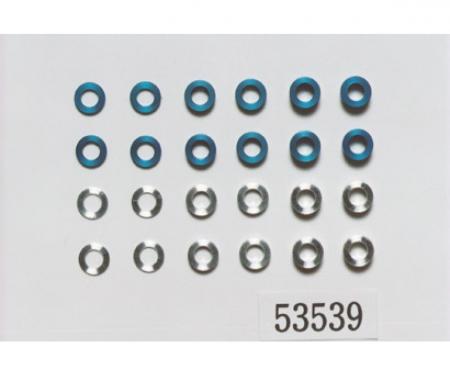 tamiya Aluminum Spacer Set 5,5/3mm blue/silver