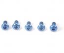 3x6mm Sockelschraube Alu blau