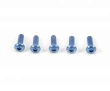 tamiya 3x10mm Sockelschraube Alu blau