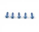 tamiya 3x10mm Sockelschraube Alu blau (5)