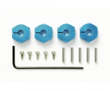tamiya Clamp Alu Wheel Hub (4) 5mm blue