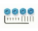 tamiya Clamp Alu Wheel Hub (4) 5mm blue