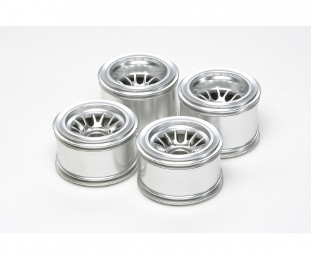 tamiya F104 Plated Mesh Wheels f.Rubber Tires
