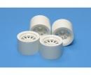 F104 Sponge Wheel Set white (2+2)