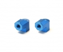 tamiya TA-07 Aluminum Motor Mt Posts (2) blue