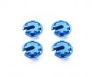 tamiya Alu. Federteller +1mm (4) Blau eloxiert
