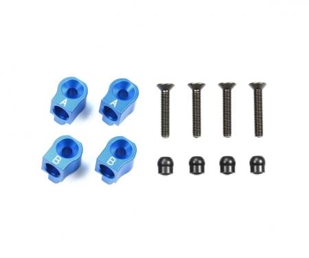 M-07C Alu Querlenkerhalter hi./+0,5 blau