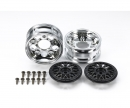 tamiya 2-Piece Mesh Wheels (2) Black