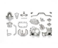 T3-01 A-Teile Getriebebox (silber matt)