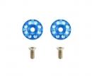 tamiya Aluminum Wing Washers (2) Blue