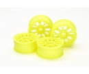 tamiya 1:10 Mesh Wheels +2 FlYel (4) 24mm