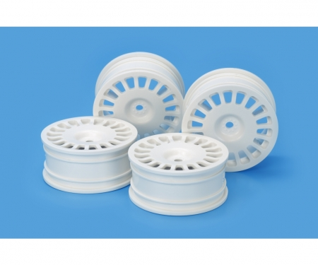 tamiya 1:10 RallyDish Wheels 0 Whi *4 24mm