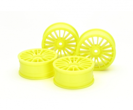 tamiya 1:10 18-Spk Wheels 0 FlYel *4 24mm