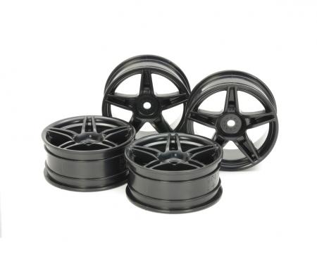 tamiya 1:10 Twin5spk Wheels +2 Bla (4) 24mm