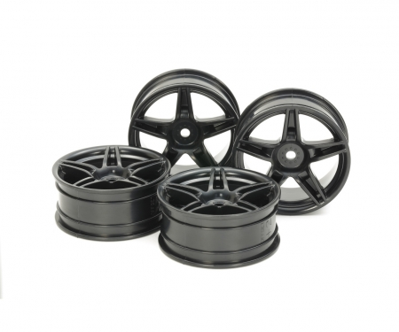 24mm Twin5spk Wheels +2 Bla *4