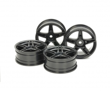 tamiya 24mm Twin5spk Wheels +2 Bla *4