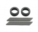 tamiya 1:10 Rally Block Tire Soft *2 26mm