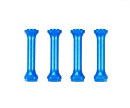 tamiya M-08 Alu Chassisverbinder Set (4) Blau