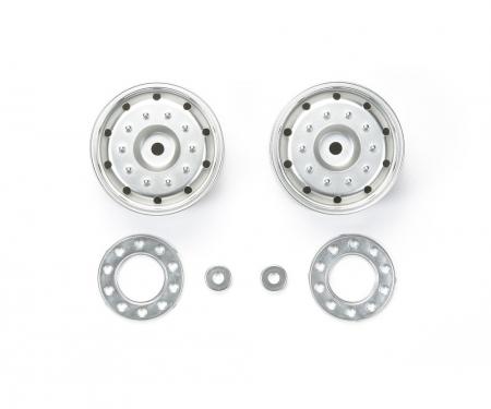 tamiya 1:14 Trailer Wheels 30mm Hex(2)Flat Chro