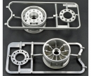 1:14 Trailer Wheels 30mm BB (2)Flat Chro
