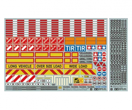 1:14 Warning-Sticker Set Tractor/Trailer