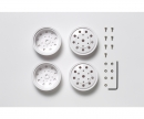tamiya 1:14 F Wheels (22mm/Whi) (2) R/whi 12mm