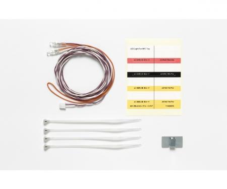 tamiya MFC-LED Weiss Ø3mm (2) Länge 1100mm