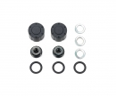 tamiya Hub Nuts for Dual Whl Bla *2