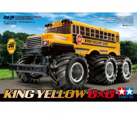 1:18 RC King Yellow 6x6 Bus (G6-01)