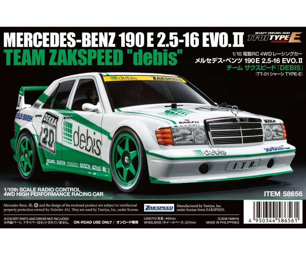 TAMIYA tt-01e 1:10 Mercedes Benz 190e Debis 16275065 Uréthane pare-chocs t0e ®