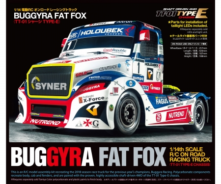 tamiya 1:14 RC Buggyra Fat Fox (TT-01E)