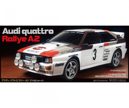 tamiya 1:10 RC Audi Quattro Rally A2 (TT-02)