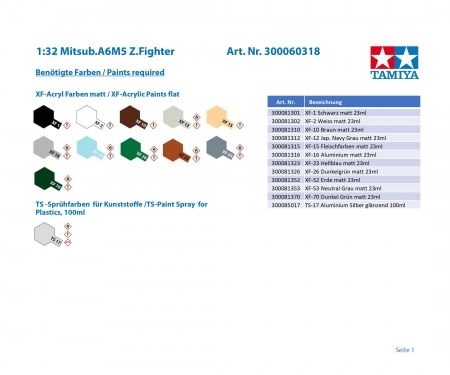 tamiya 1:32 A6M5 Zero Model 52 (Zecke)