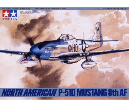 1:48 WWII US North Americ. P-51D Mustang