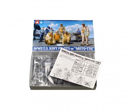 tamiya 1:48 US Navy Piloten mit Motor-Tug