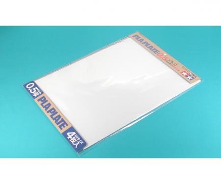 Kst-Platte 0,5mm (4) weiß 257x364mm