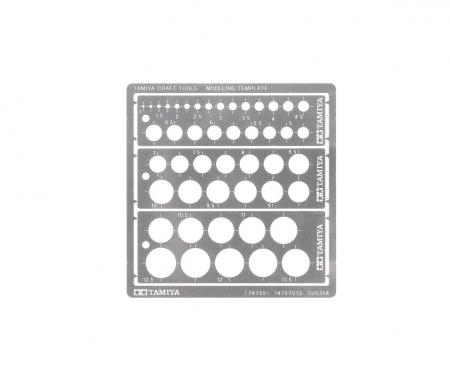 tamiya Modeling Kreis Schablone PE (3) 1-12,5mm