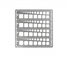tamiya Modeling Quadrat Schablone 1-10mm (4) PE