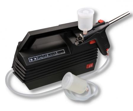 tamiya Basic Compressor w/Airbrush