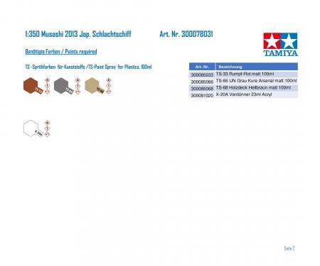 tamiya 1:350 Musashi 2013