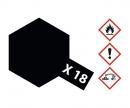 tamiya X-18 Semi Gloss Black 23ml