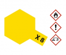 tamiya X-8 Lemon Yellow Gloss 10ml