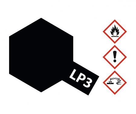 tamiya LP-3 Schwarz matt 10ml (VE6)