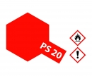 tamiya PS-20 Flourescent Red Polycarb. 100ml