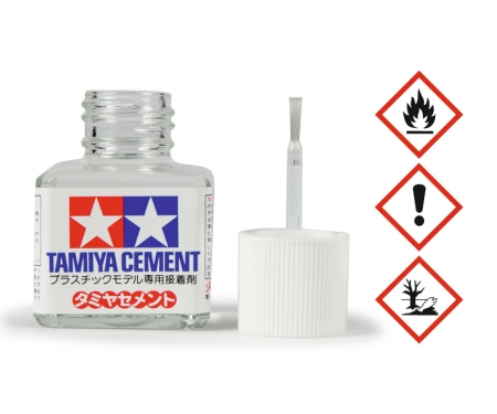 tamiya Tamiya Cement w/Brush 40ml