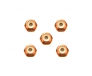 tamiya 2mm Alu. Lock Nut (5) Orange