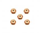 tamiya 2mm Alu. Lock Nut Orange*5