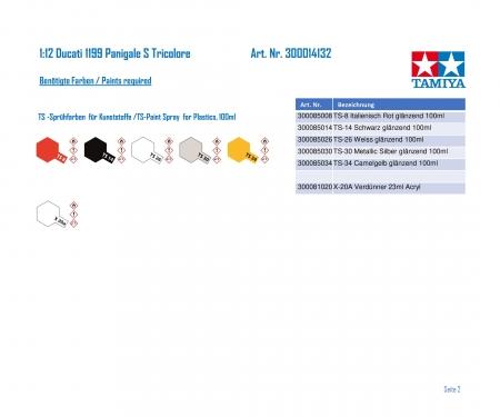 tamiya 1/12 1199 Panigale S Tricolore