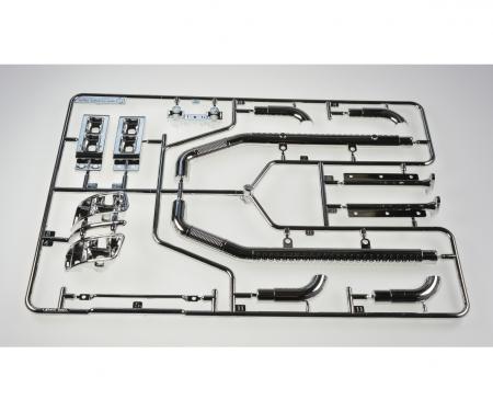 tamiya Q-Parts Exhaust chrome Aeromax 56309