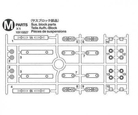 tamiya M-Parts (M1-M3) 58435